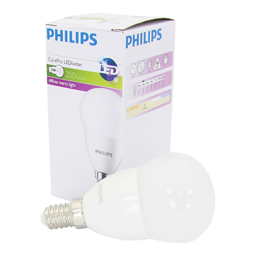 Philips CorePro LEDluster E14 P45 4W 827 Mat | Vervangt 25W