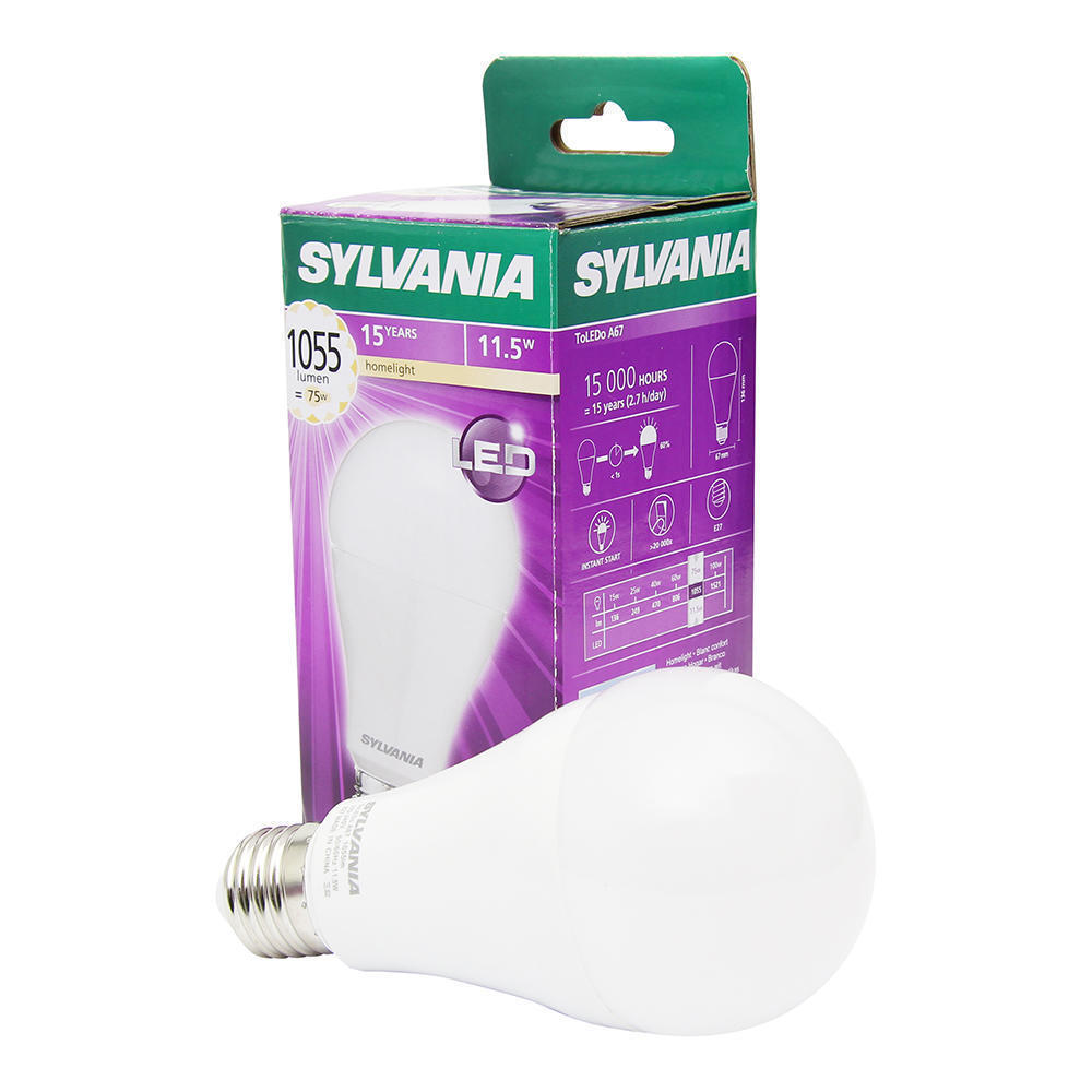 Sylvania ToLEDo GLS E27 11W 827 | Vervangt 75W