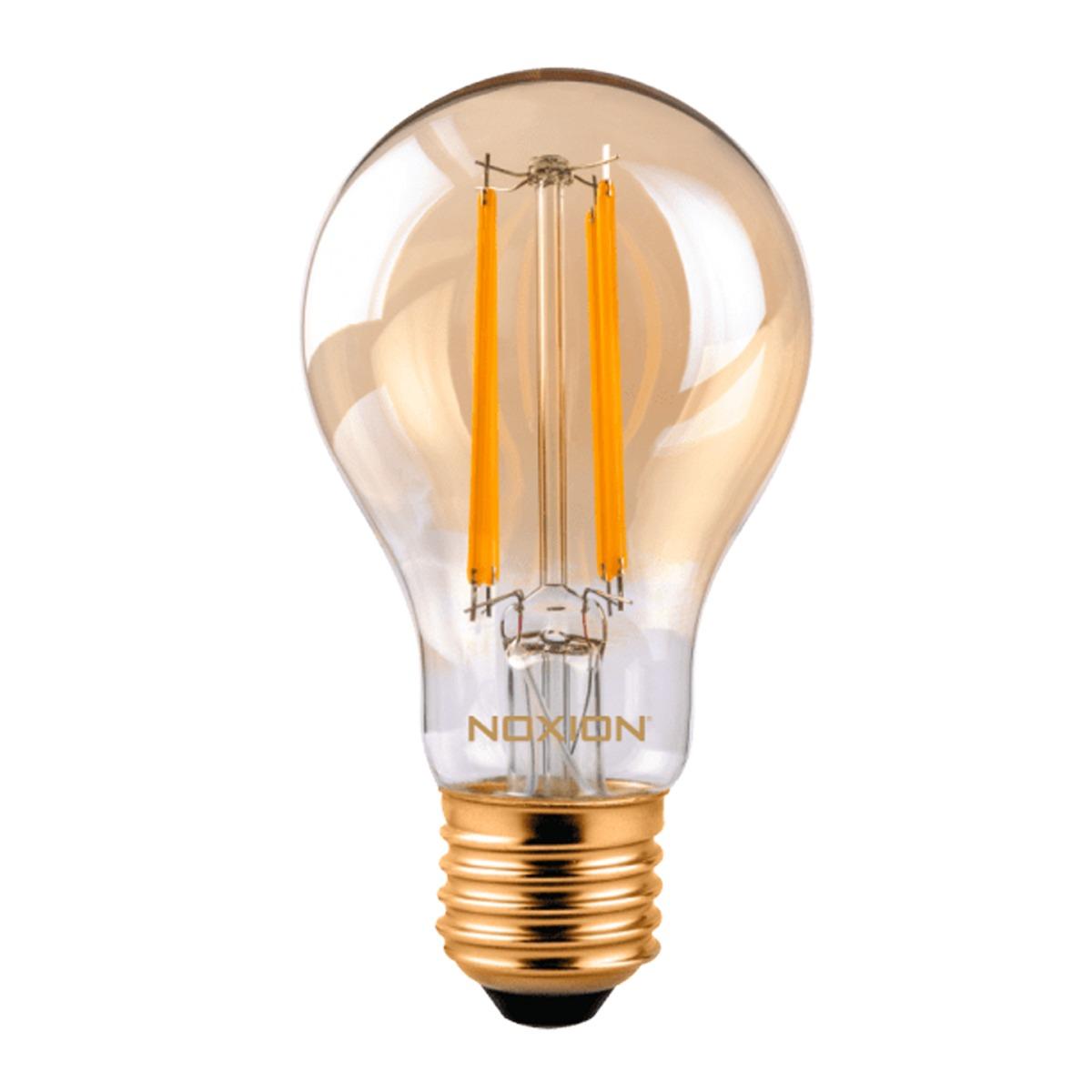 Noxion Lucent Classic LED Filament A60 E27 8W 822 Helder | Dimbaar - Zeer Warm Wit - Vervangt 50W