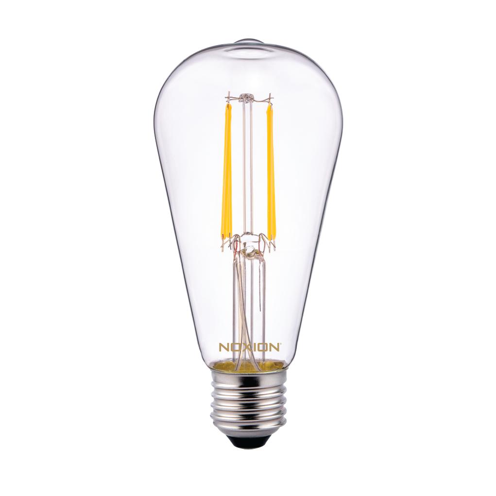 Noxion Lucent Classic LED Filament ST64 E27 6.5W 827 Helder | Zeer Warm Wit - Vervangt 60W