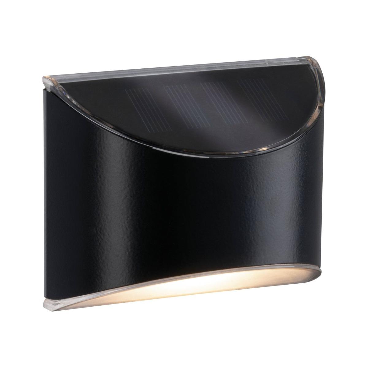 Paulmann Elliot Solar LED Muurlamp Grijs Metaal/Kunststof IP44 3000K