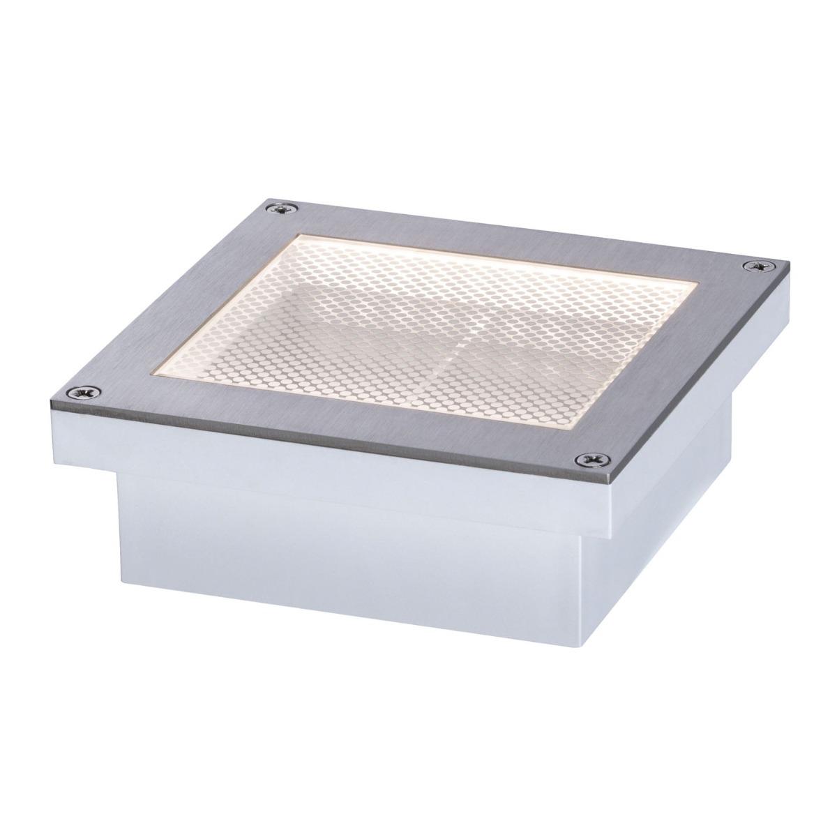 Paulmann Aron Solar LED Grondspot Metaal/Kunststof 100x100mm IP67 3000K | Bewegingssensor