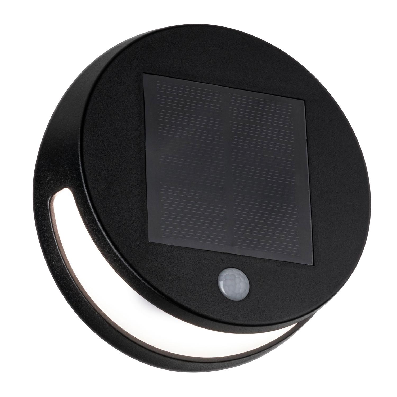 Paulmann Helena Solar LED Muurlamp Antraciet IP44 3000K 300lm | Bewegingssensor