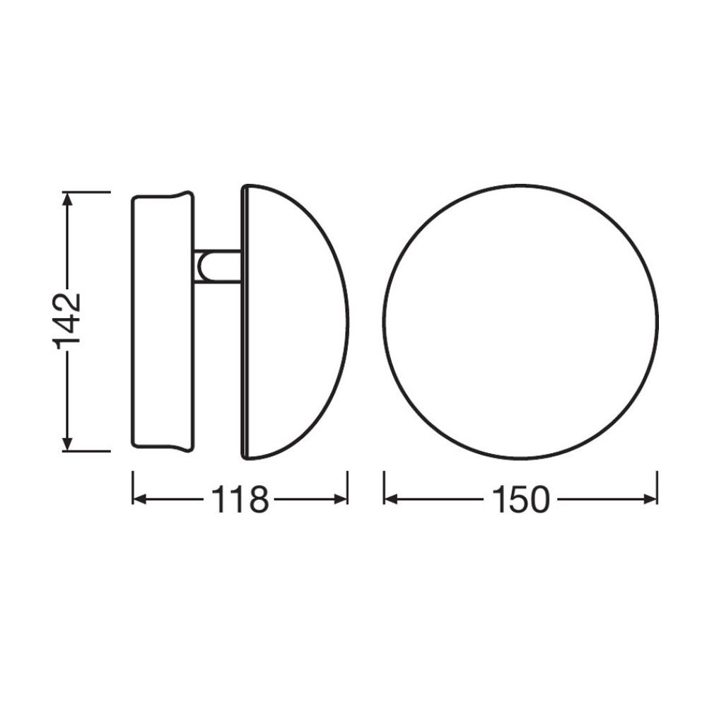 Ledvance Outdoor LED Facade Indirect 13W 3000K Grijs