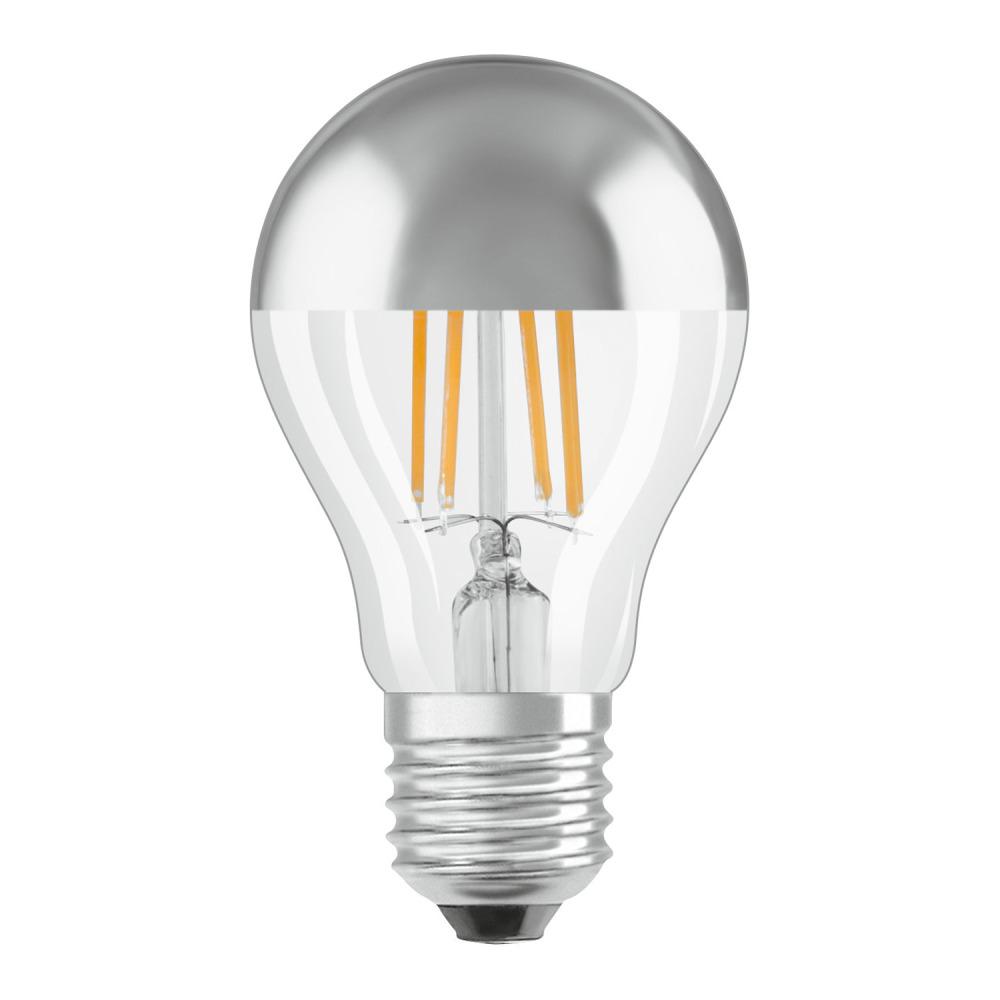 Osram Parathom Classic A E27 6.5W 827 Filament Silver Spiegel | Zeer Warm Wit - Vervangt 50W