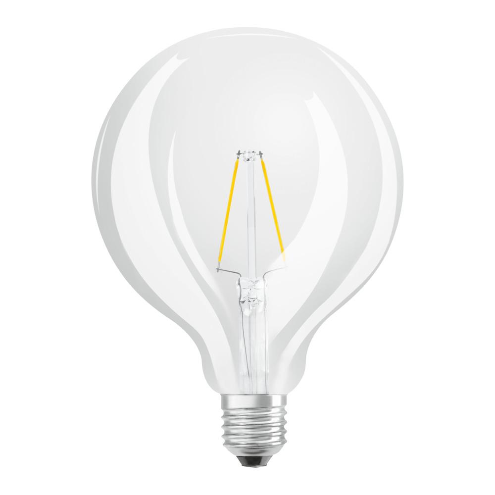Osram Parathom Retrofit Classic E27 Globe 2.5W 827 Filament | Zeer Warm Wit - Vervangt 25W