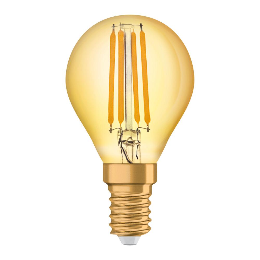 Osram Vintage 1906 LED Classic E14 P 4W 825 Filament Goud | Zeer Warm Wit - Vervangt 35W