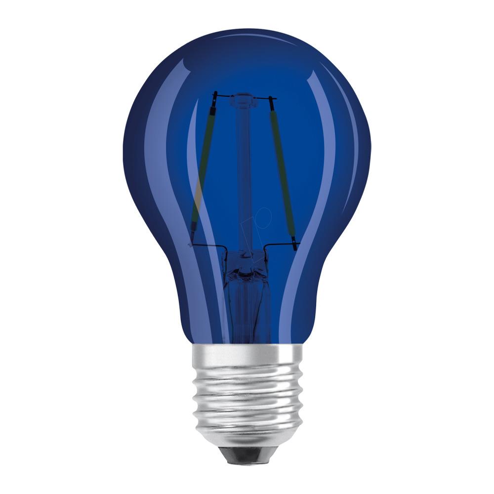 Osram LED STAR DECO Classic A Color E27 2.5W Blauw Helder | Vervangt 15W