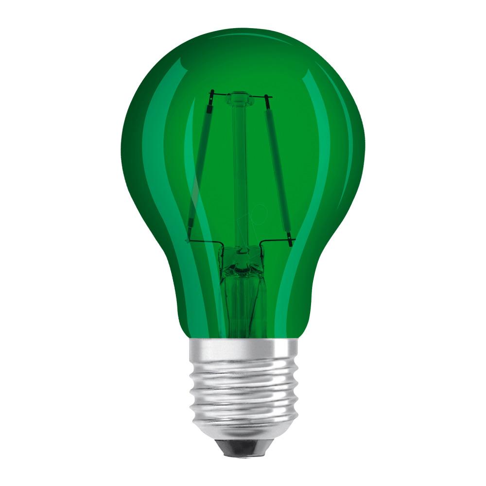 Osram LED STAR DECO Classic A Color E27 2.5W Groen Helder | Vervangt 15W