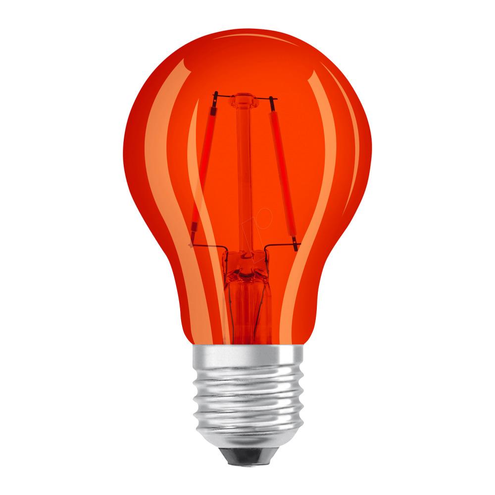 Osram LED STAR DECO Classic A Color E27 2.5W Oranje Helder | Vervangt 15W