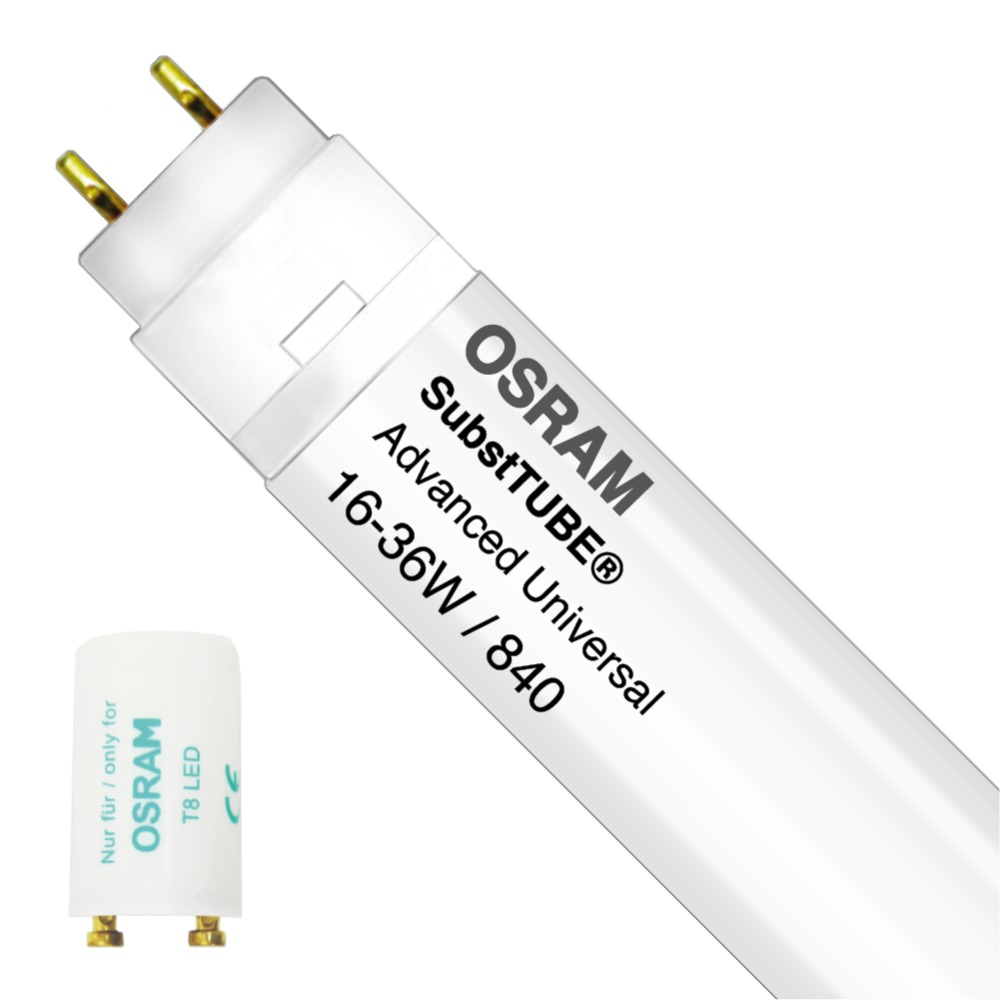 Osram SubstiTUBE Advanced UN 16W 840 120cm   Koel Wit - incl. LED Starter - Vervangt 36W