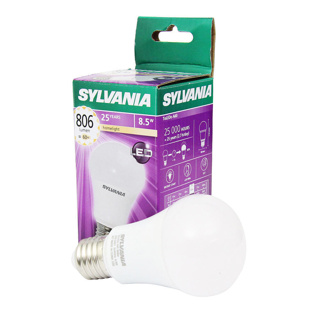 Sylvania ToLEDo GLS E27 8.5W 827 | Vervangt 60W
