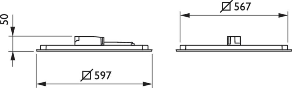 Philips SlimBlend RC400B LED Paneel 60x60cm 4000K 3600lm PSD VPC ACL PIP DALI | Koel Wit - Vervangt 4x18W