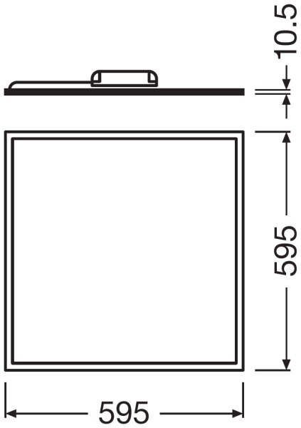 Ledvance LED Paneel 60x60cm 4000K 30W | Koel Wit - Vervangt 4x18W
