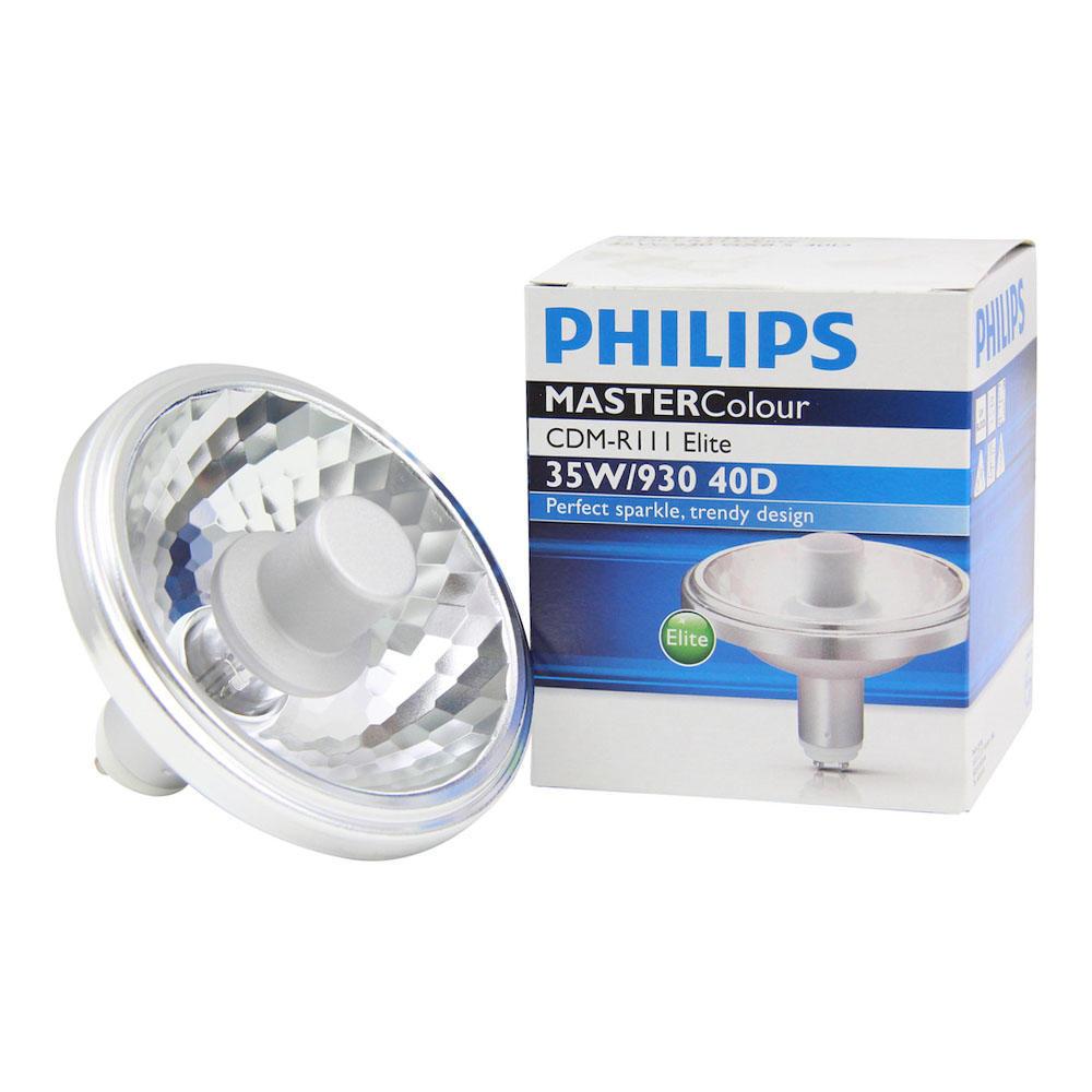 Philips MASTERColour CDM-R111 Elite 35W 930 GX8.5 40D | Warm Wit - Beste Kleurweergave