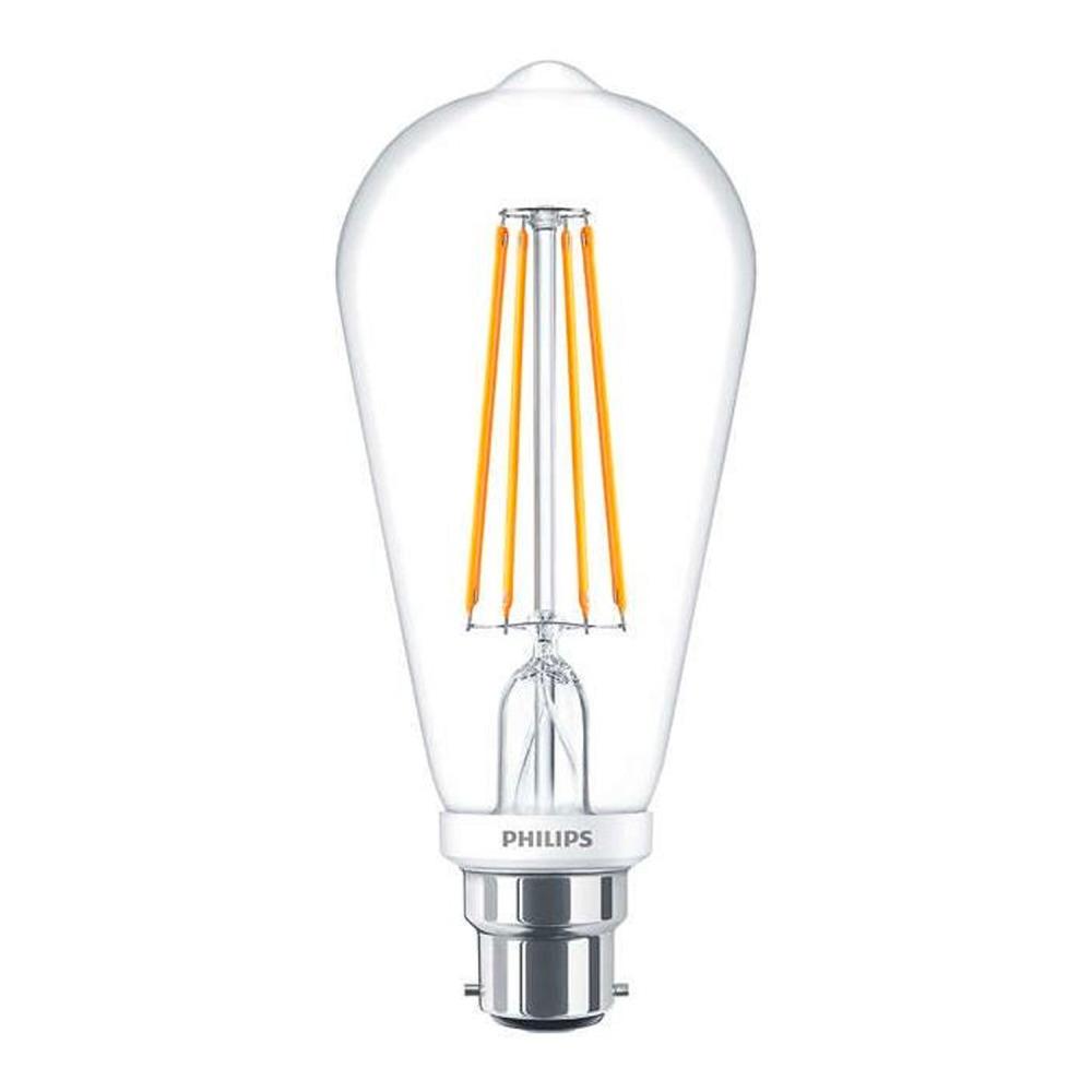 Philips Classic LEDbulb B22 7W 827 ST64 Filament | Zeer Warm Wit - Dimbaar - Vervangt 60W