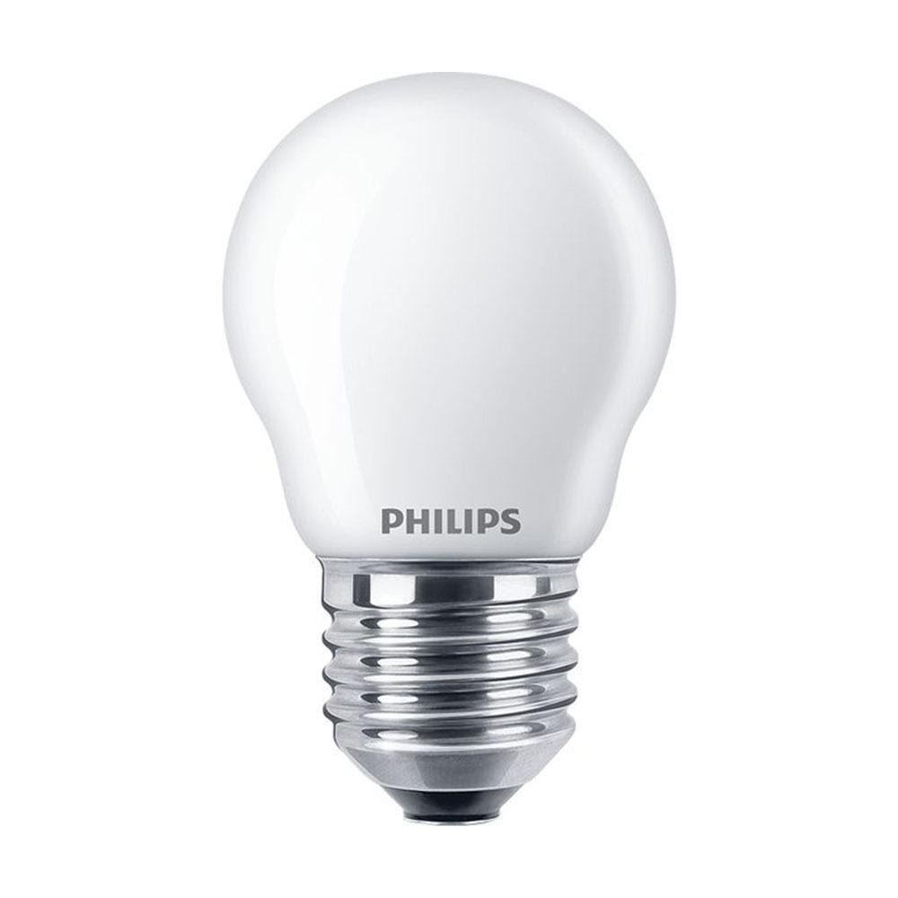 Philips Classic LEDlustre E27 P45 2.2W 827 Mat | Vervangt 25W