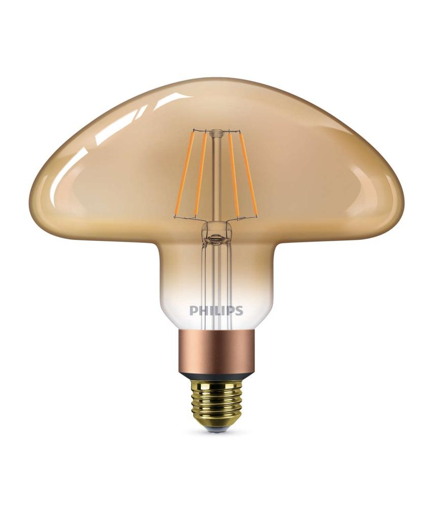 Philips Classic LEDbulb Vintage E27 Mushroom 5W 820 Goud | Extra Warm Wit - Dimbaar - Vervangt 30W