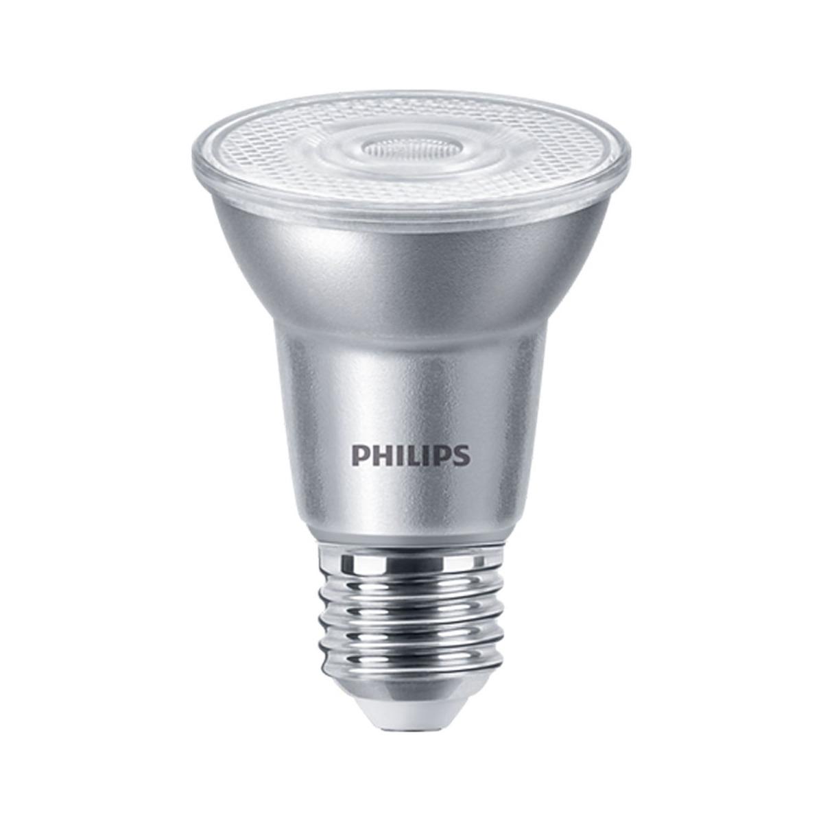 Philips LEDspot E27 PAR20 6W 840 25D 540lm (MASTER) | Dimbaar - Koel Wit - Vervangt 50W
