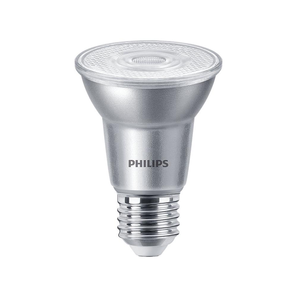 Philips LEDspot E27 PAR20 6W 827 40D 500lm (MASTER) | Dimbaar - Zeer Warm Wit - Vervangt 50W