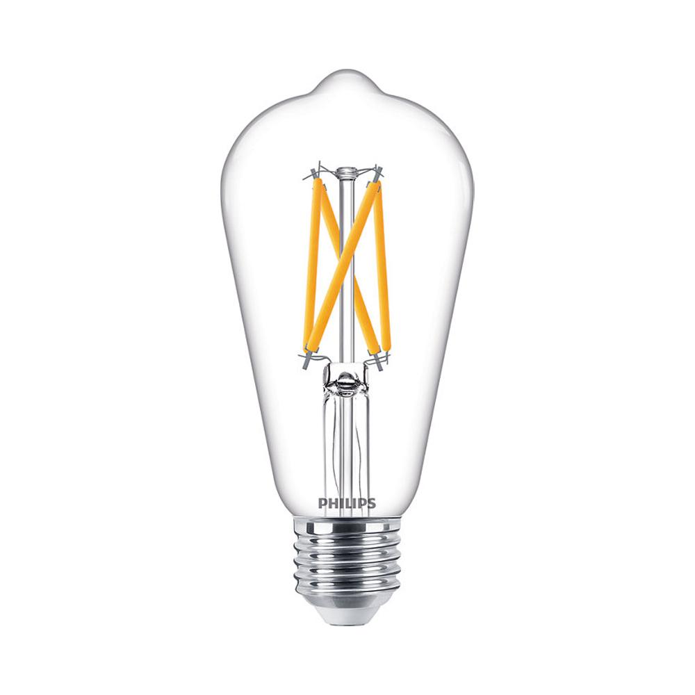 Philips Classic LEDbulb E27 ST64 7W 927 806lm Filament | DimTone - Zeer Warm Wit - Vervangt 60W