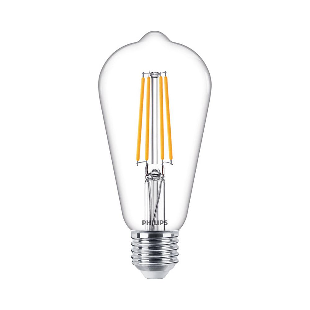 Philips Classic LEDbulb E27 ST64 7.2W 827 806lm | Dimbaar - Zeer Warm Wit - Vervangt 60W