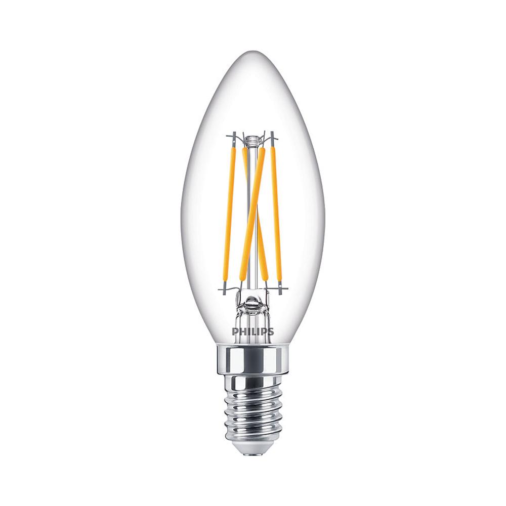 Philips Classic LEDcandle B35 E14 4.5W 927 470lm | DimTone - Zeer Warm Wit - Vervangt 40W