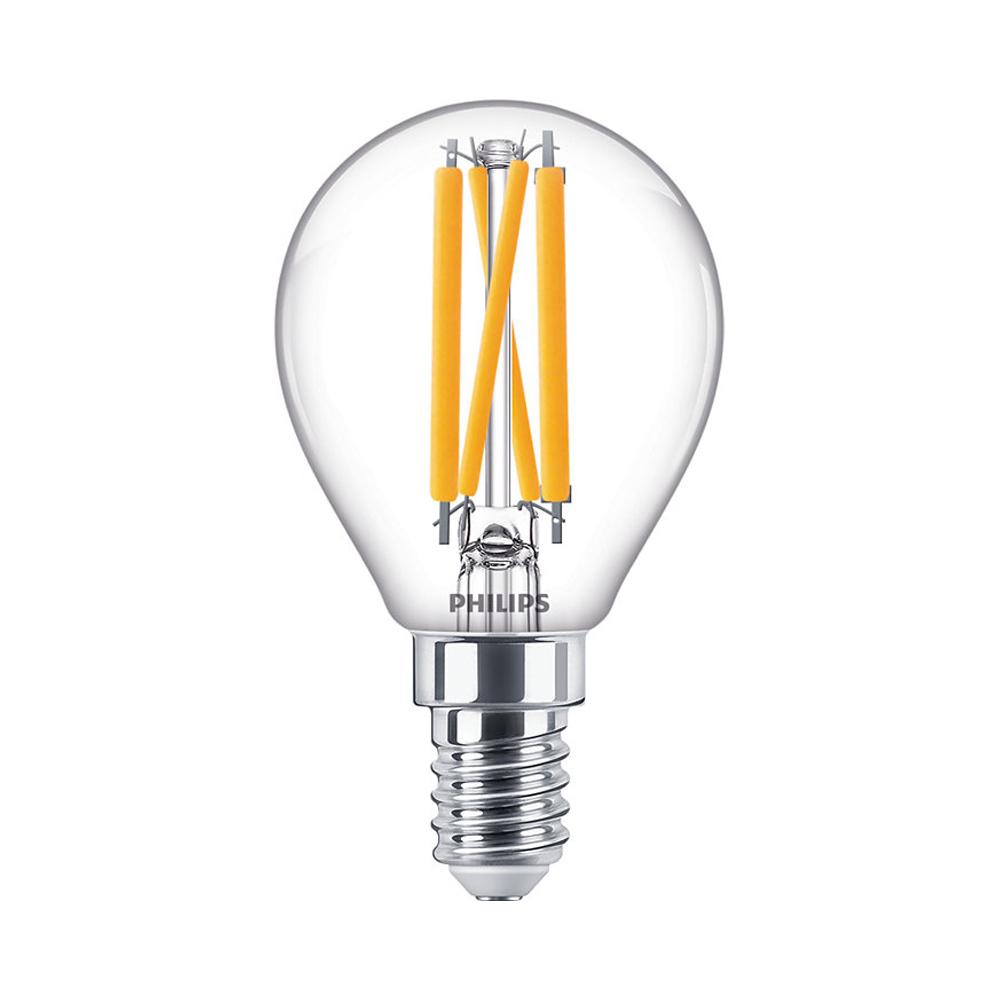 Philips Classic LEDlustre E14 P45 4.5W 927 470lm | DimTone - Zeer Warm Wit - Vervangt 25W