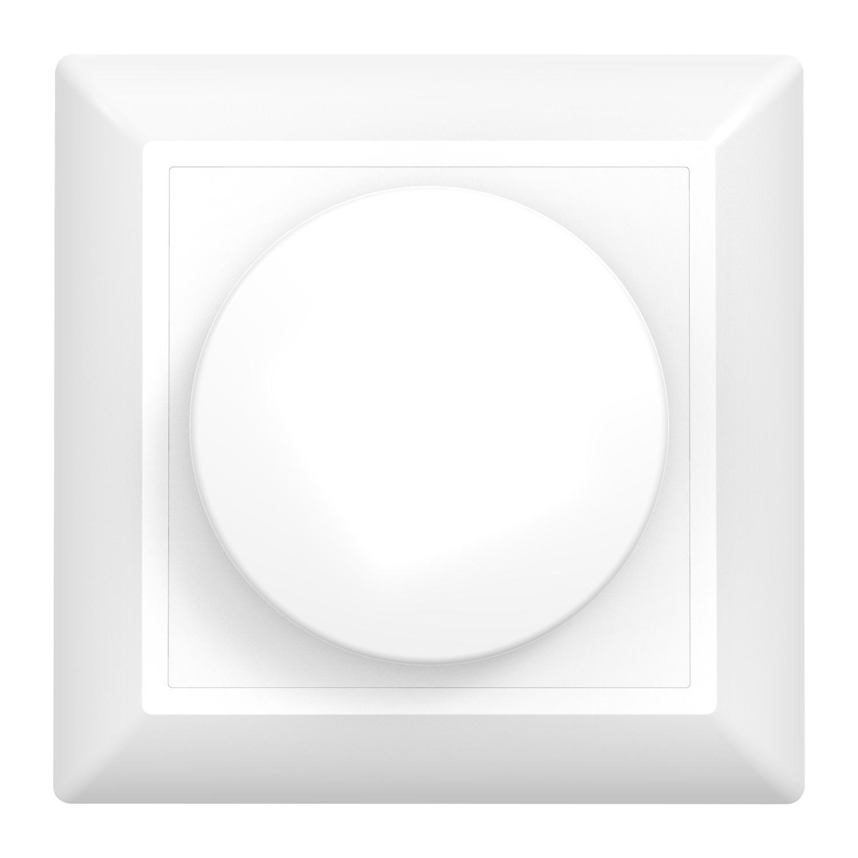Noxion Roteerbare afdekplaat voor LED Dimmer | Zachte Rand - Wit