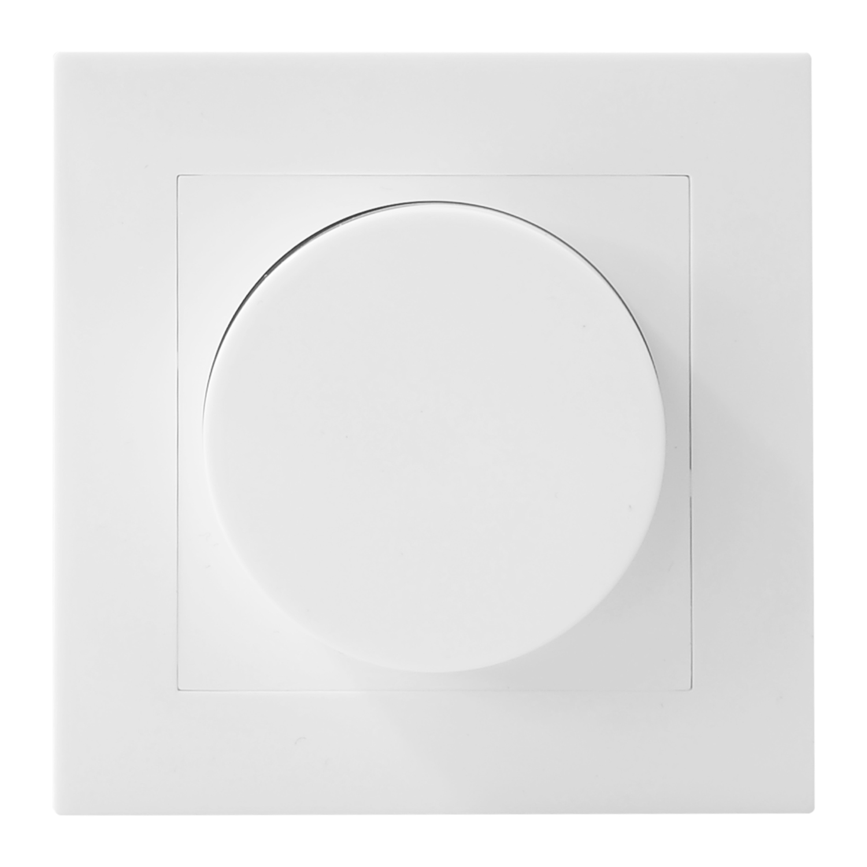 Noxion Roteerbare afdekplaat voor LED Dimmer | Harde Rand - Wit