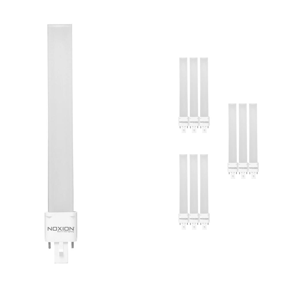 Voordeelpak 10x Noxion Lucent LED PL-S EM 6W 827 | Zeer Warm Wit - 2-Pin - Vervangt 11W