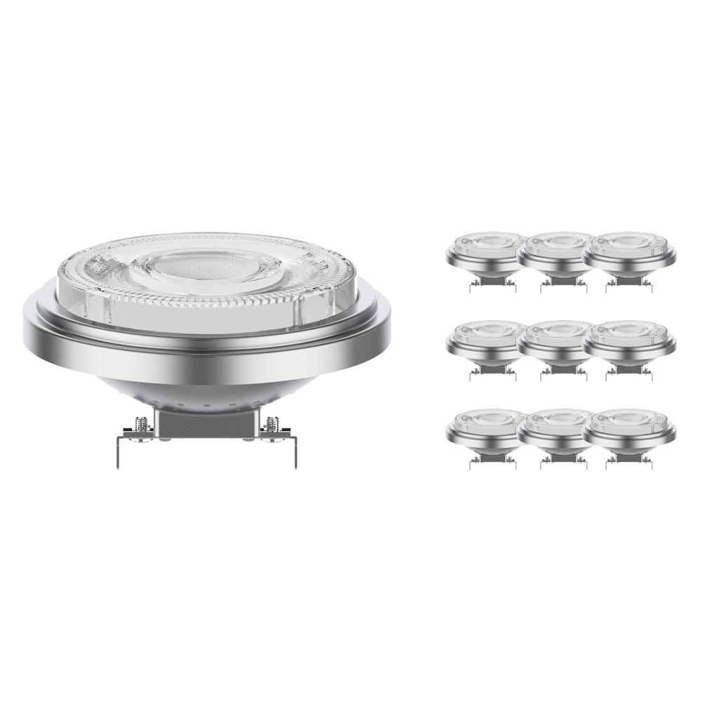 Voordeelpak 10x Noxion Lucent LED Spot AR111 G53 12V 7.3W 927 24D | Dimbaar - Beste Kleurweergave - Vervangt 50W