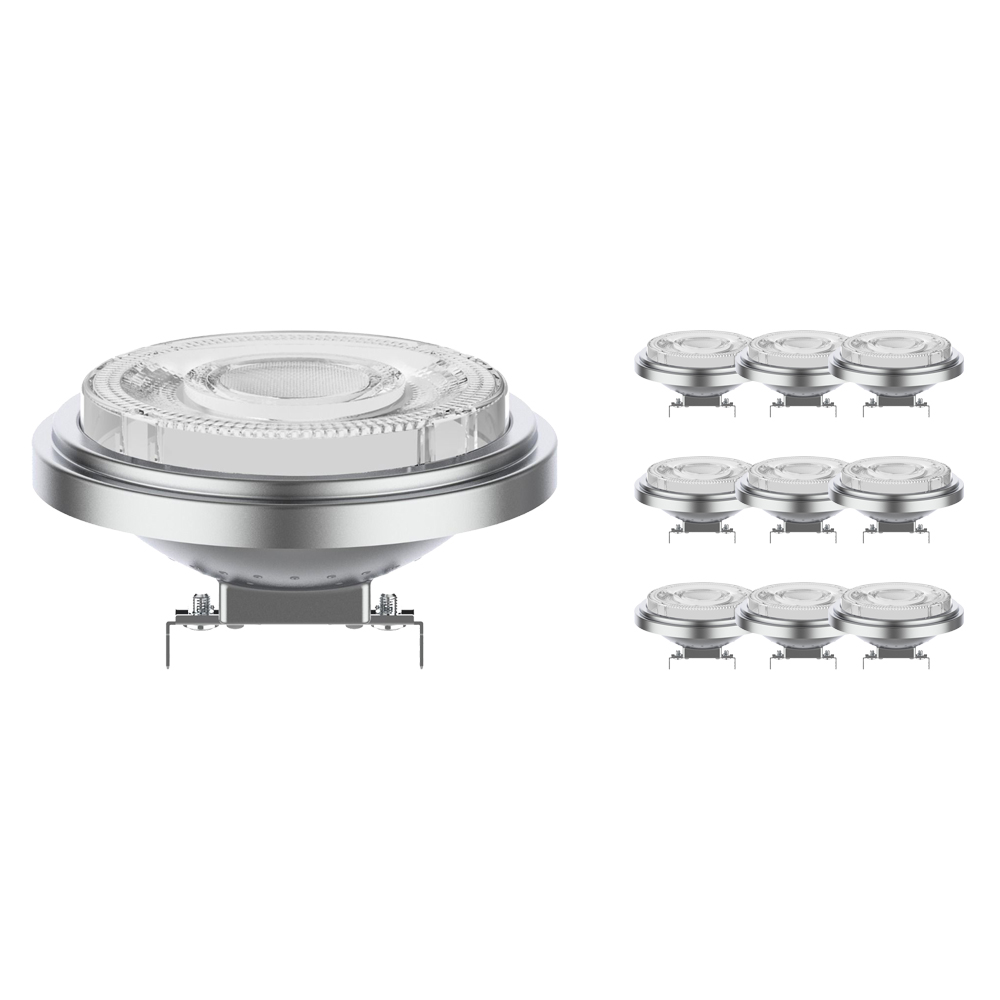Voordeelpak 10x Noxion Lucent LED Spot AR111 G53 12V 7.3W 930 24D | Dimbaar - Beste Kleurweergave - Vervangt 50W