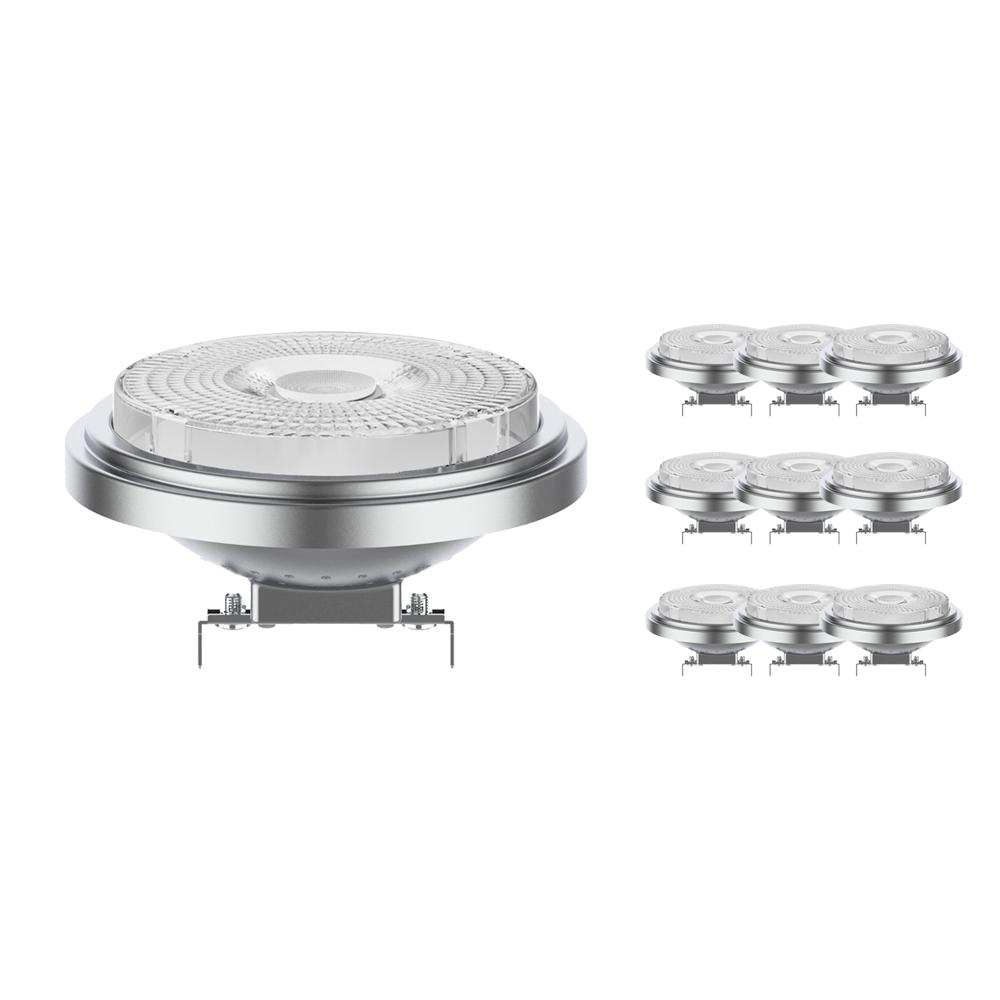Voordeelpak 10x Noxion Lucent LED Spot AR111 G53 12V 7.3W 930 40D | Dimbaar - Beste Kleurweergave - Vervangt 50W