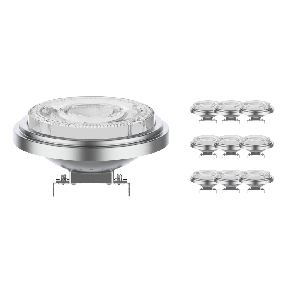 Voordeelpak 10x Noxion Lucent LED Spot AR111 G53 12V 11.5W 930 24D | Dimbaar - Beste Kleurweergave - Vervangt 75W