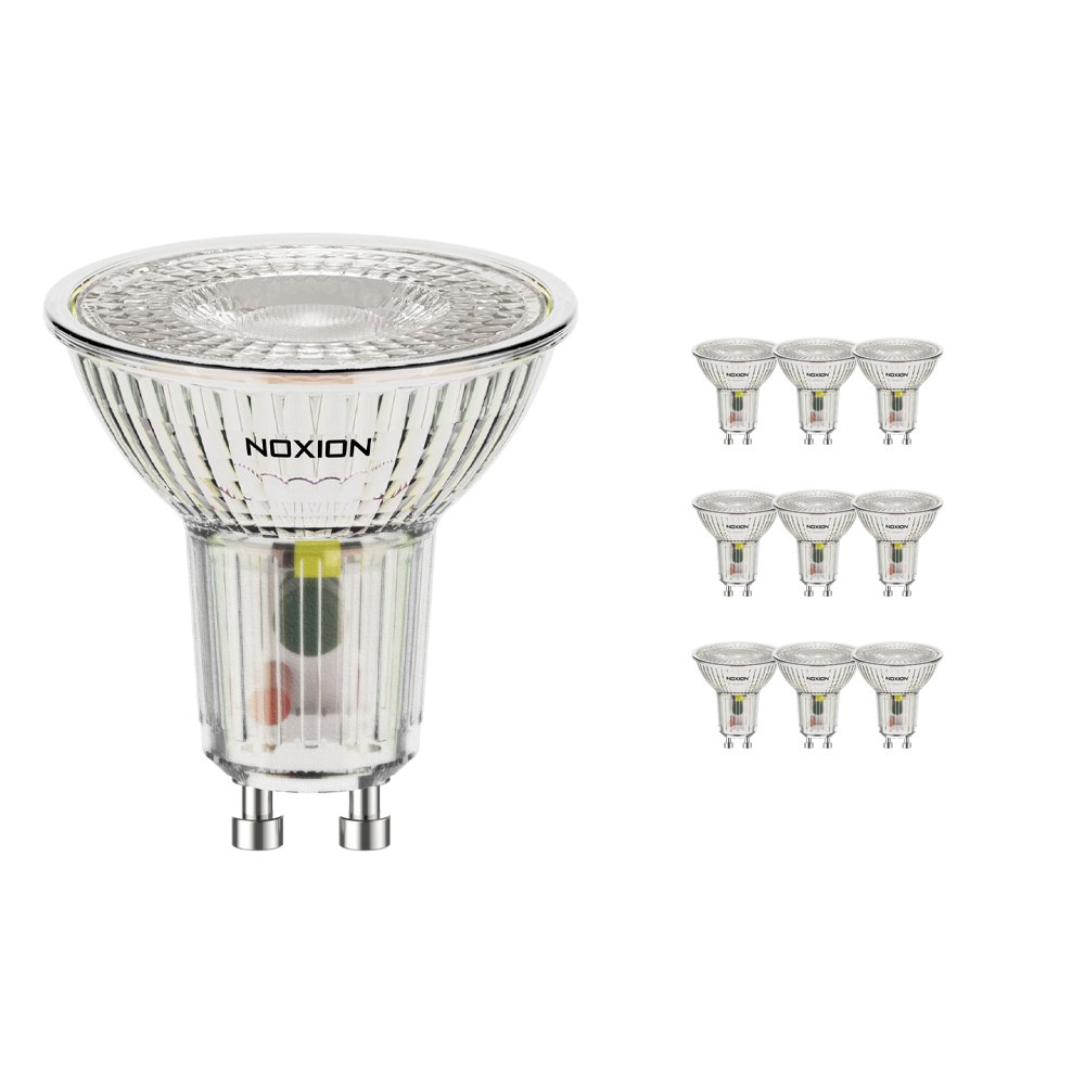 Voordeelpak 10x Noxion LED Spot GU10 5W 830 36D 500lm | Warm Wit - Vervangt 60W