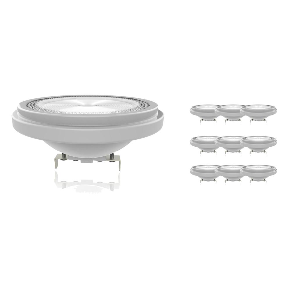 Voordeelpak 10x Noxion Lucent LED Spot AR111 G53 12V 13.3W 930 40D | Dimbaar - Beste Kleurweergave - Vervangt 100W