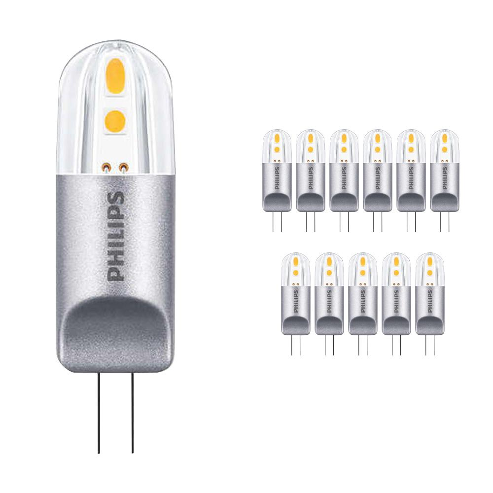 Voordeelpak 12x Philips CorePro LEDcapsule LV G4 2W 827 | Dimbaar - Vervangt 20W