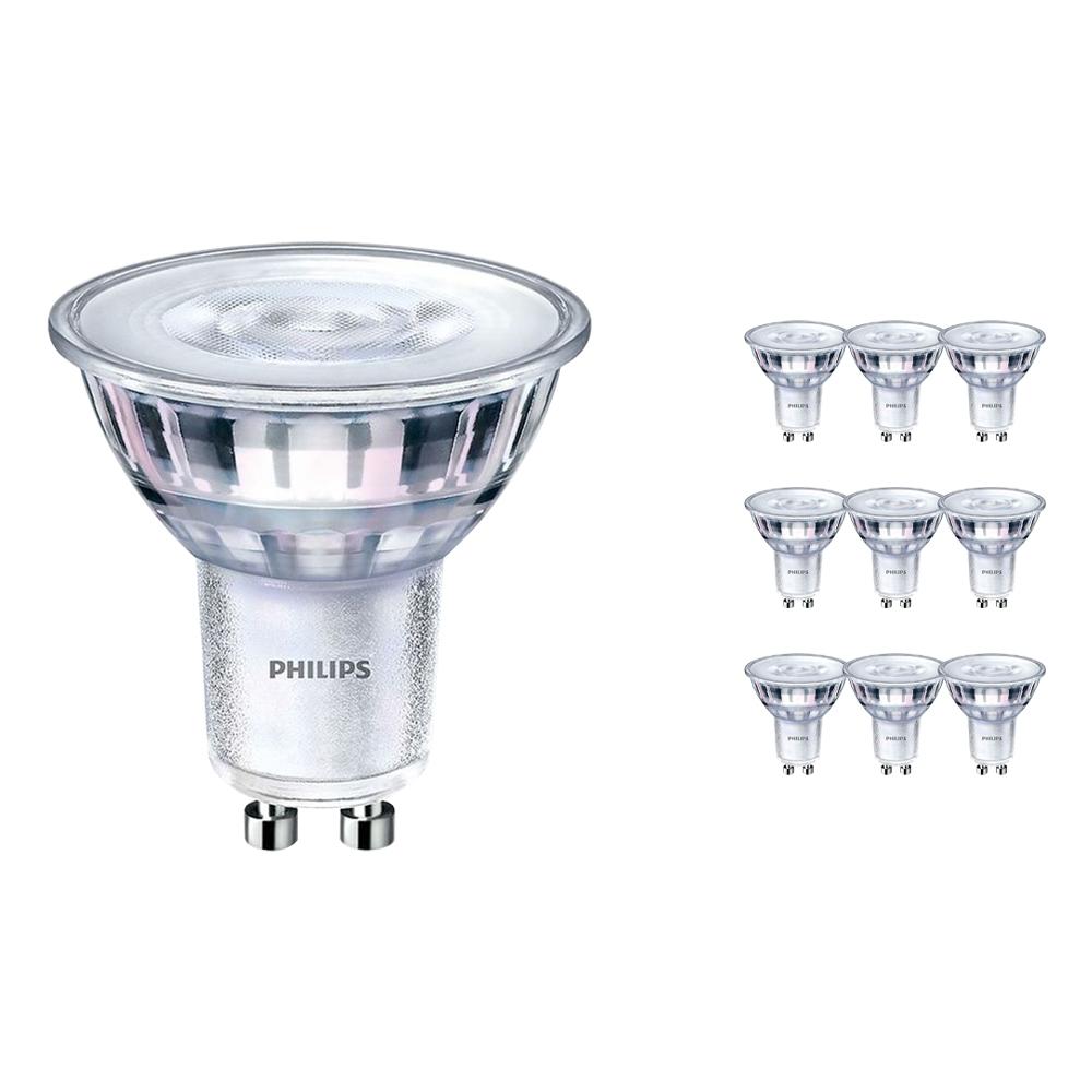 Voordeelpak 10x Philips CorePro LEDspot MV GU10 2.7W 830 36D | Warm Wit - Vervangt 25W