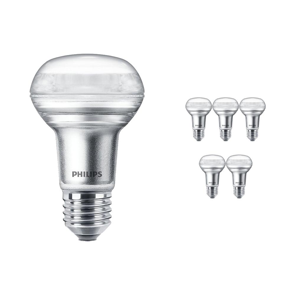 Voordeelpak 6x Philips CorePro LEDspot E27 Reflector R63 4.5W 827 36D | Zeer Warm Wit - Dimbaar - Vervangt 60W