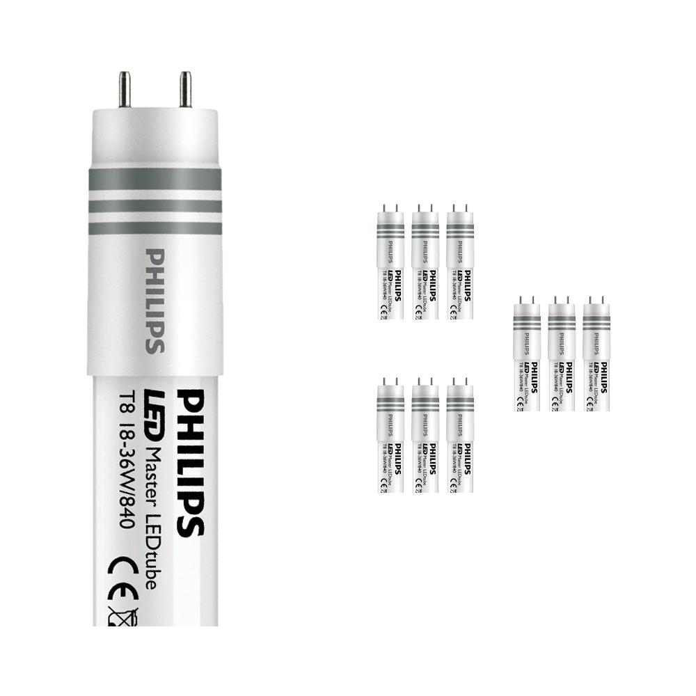 Voordeelpak 10x Philips CorePro LEDtube UN HO 18W 840 120cm   Koel Wit - Vervangt 36W