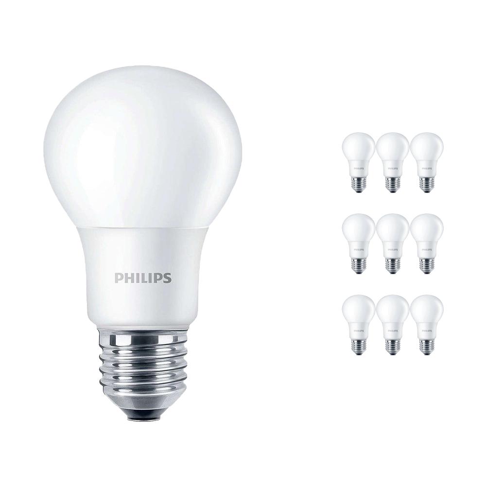 Voordeelpak 10x Philips CorePro LEDbulb E27 A60 5W 840 A60 Mat | Vervangt 40W