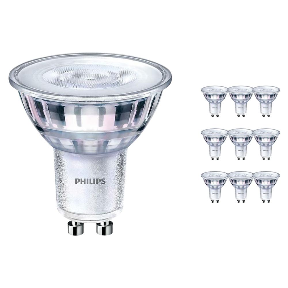 Voordeelpak 10x Philips CorePro LEDspot MV GU10 5W 840 36D | Koel Wit - Dimbaar - Vervangt 50W