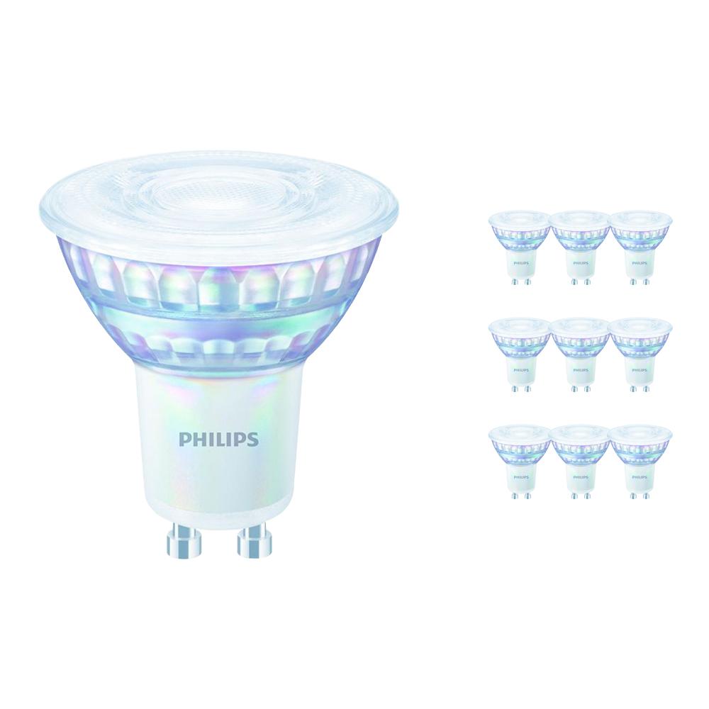 Voordeelpak 10x Philips LEDspot Value GU10 6.2W 930 36D (MASTER) | Beste Kleurweergave - Warm Wit - Vervangt 80W