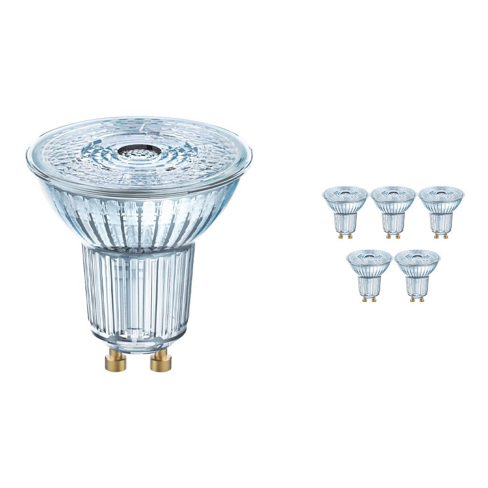 Voordeelpak 10x Osram Parathom GU10 PAR16 5.5W 930 36D   Dimbaar - Warm Wit - Beste Kleurweergave - Vervangt 50W