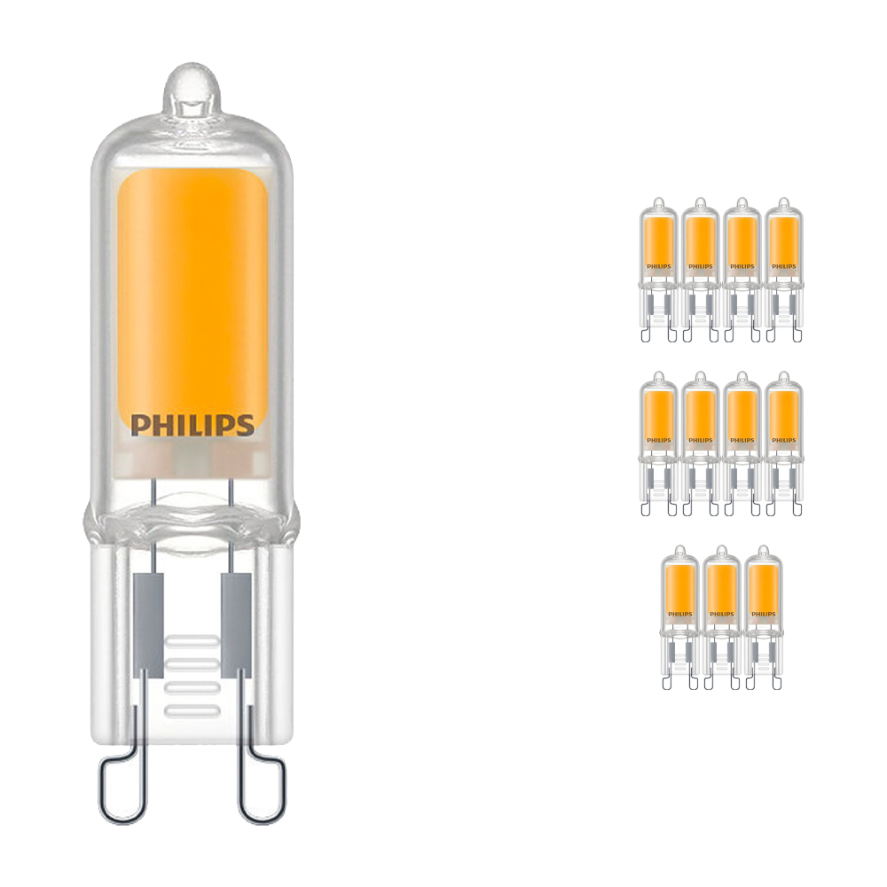 Voordeelpak 12x Philips CorePro LEDcapsule G9 2W 827 | Zeer Warm Wit - Vervangt 25W