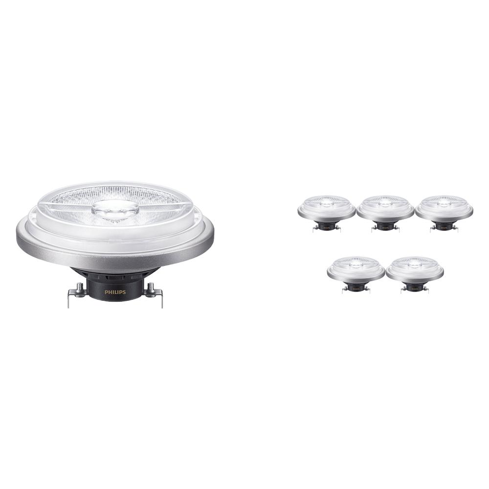 Voordeelpak 6x Philips LEDspot ExpertColor G53 AR111 (MASTER) 11W 930 40D | Beste Kleurweergave - Vervangt 50W