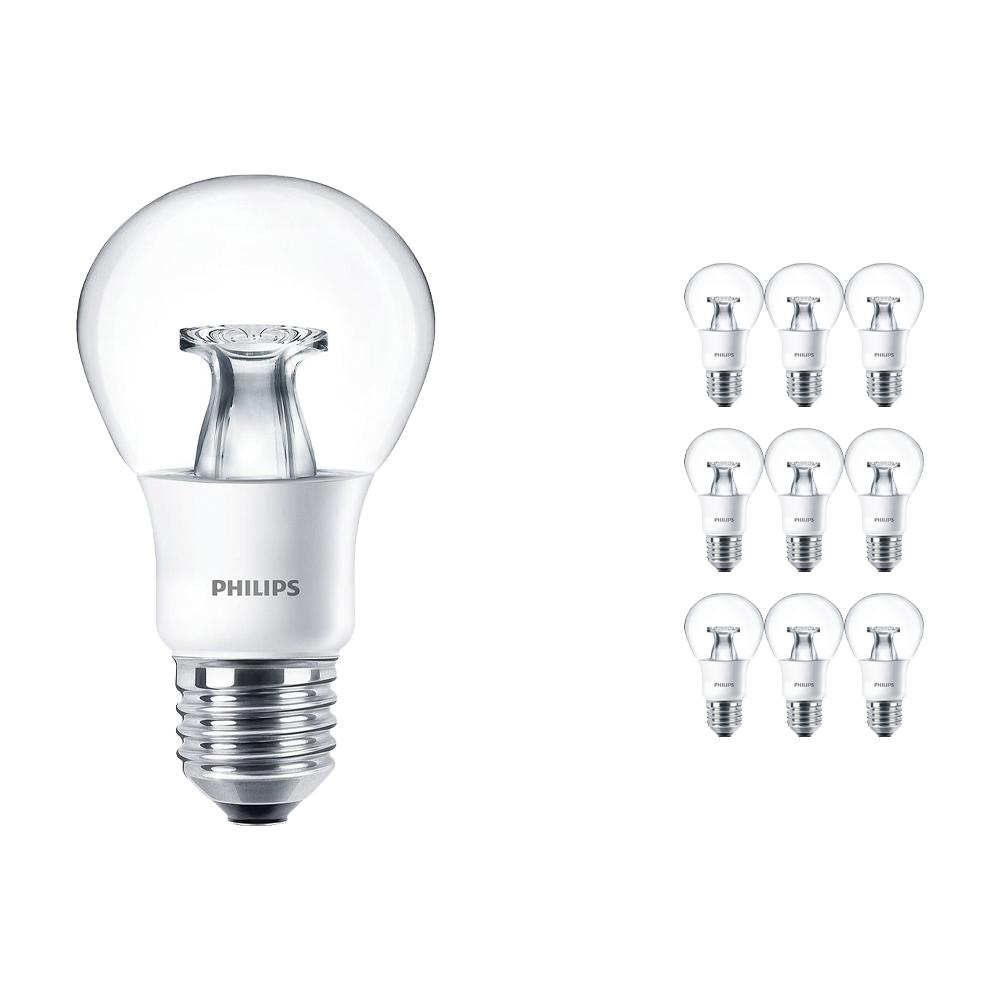 Voordeelpak 10x Philips LEDbulb E27 A60 6W 827 Helder (MASTER) | DimTone Dimbaar - Vervangt 40W