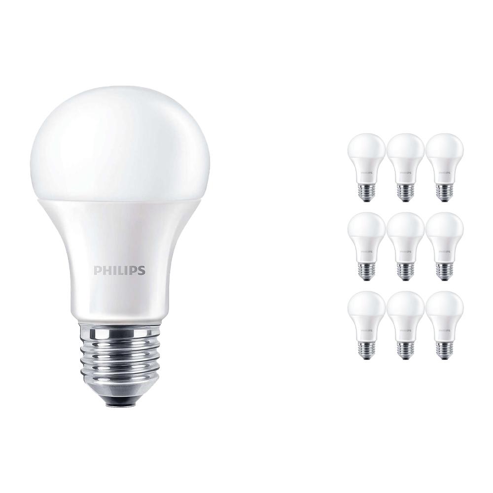 Voordeelpak 10x Philips CorePro LEDbulb E27 A60 13W 830 Matt | Vervangt 100W