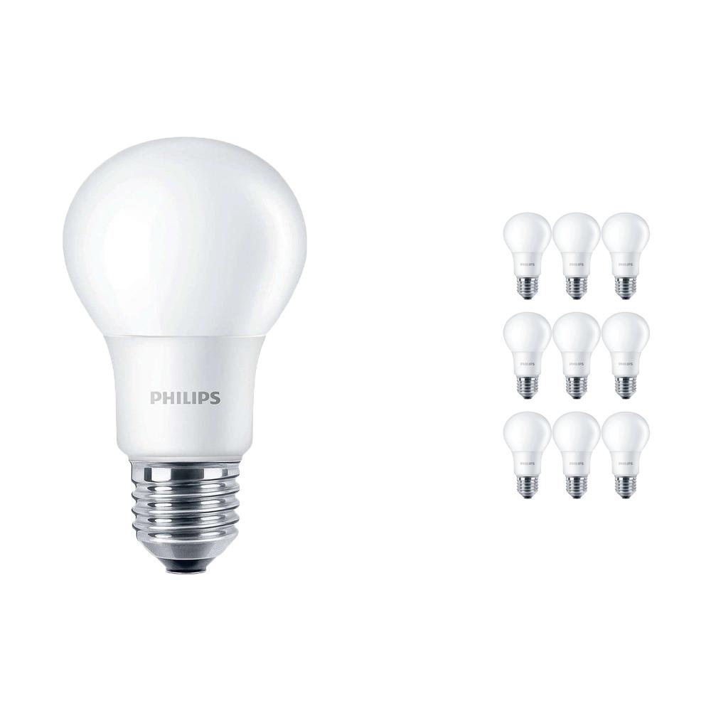 Voordeelpak 10x Philips CorePro LEDbulb E27 A60 7.5W 840 A60 Mat | Vervangt 60W